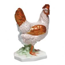 Herend Porcelain Fishnet Figurine of a Swirl Hen - Limited Edition of 100.